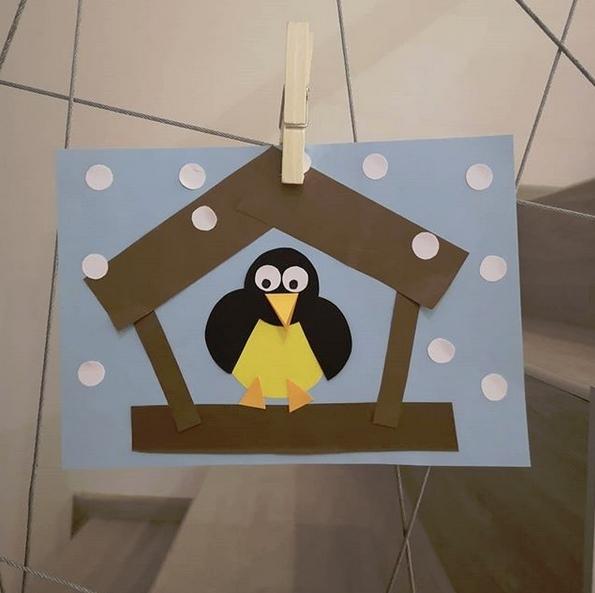 Птичка в домике 0