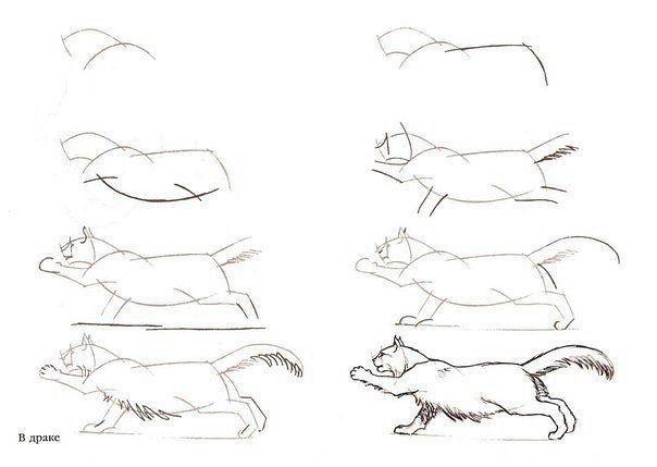 Учимся рисовать с детьми кошек больших и маленьких