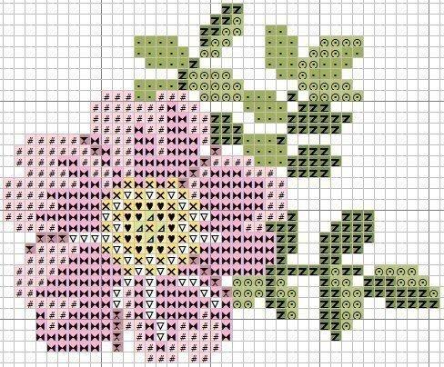 Вышивка простых цветочков крестиком