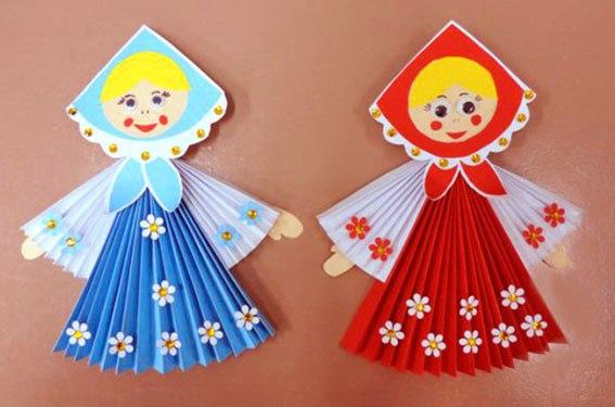 Поделка из цветной бумаги «Русская красавица»