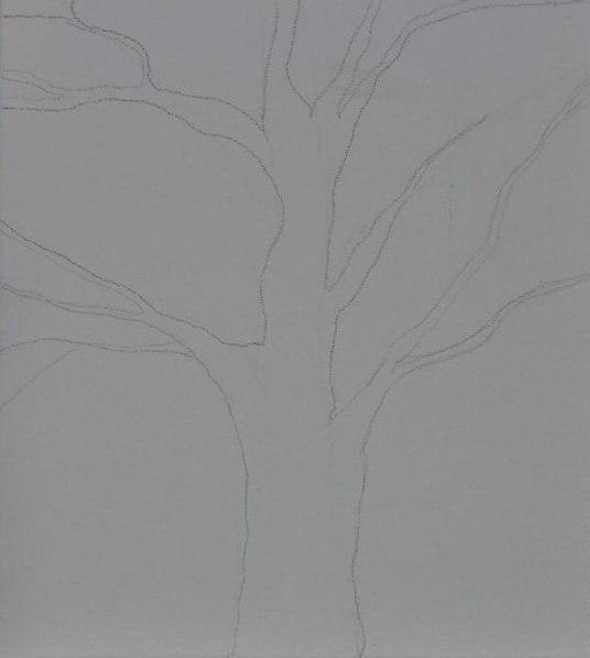"""Рисунок """"Дерево на закате"""""""