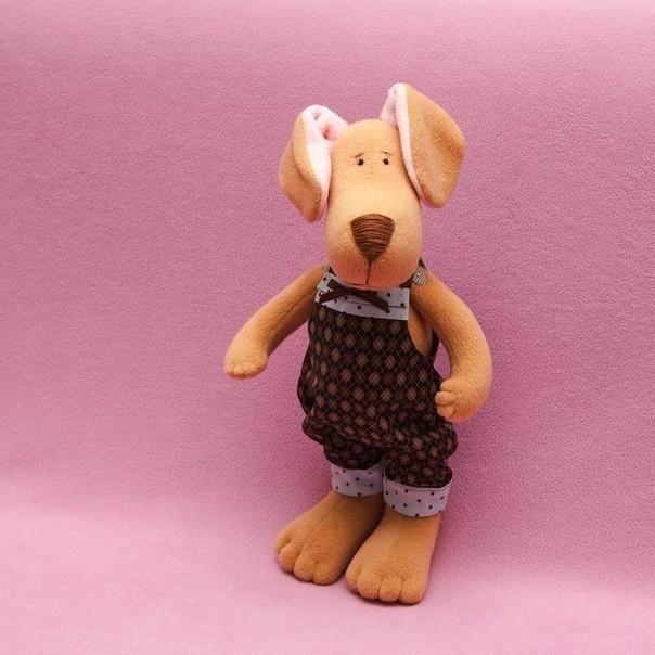 Шьем мягкую игрушку в виде пёсика