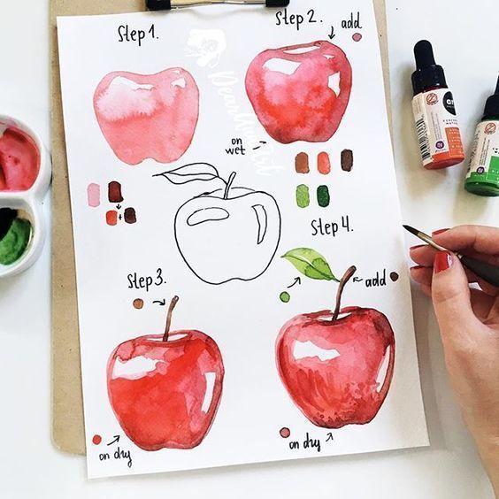 Рисуем с детьми фрукты и ягоды