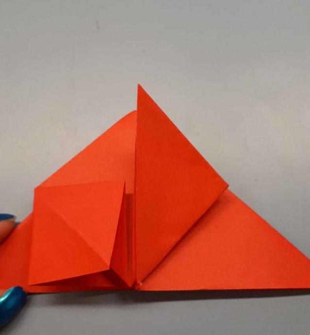Чудесный цветок оригами 7