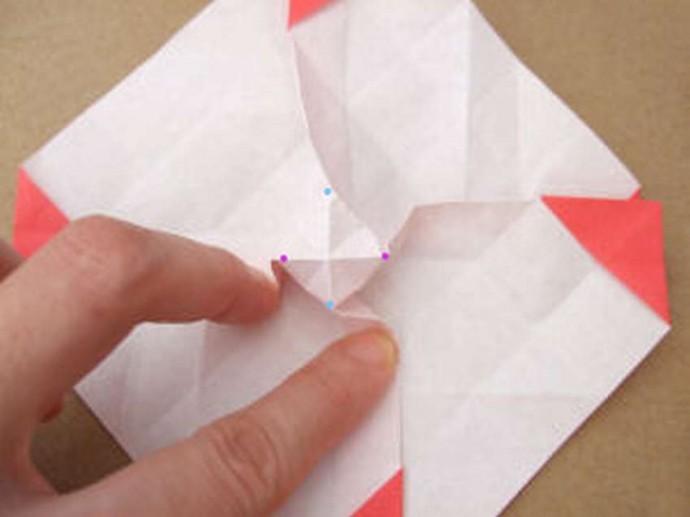 Делаем розу оригами 5