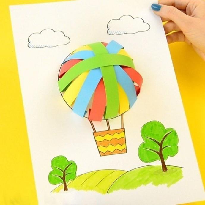 Объемные аппликации из полосок цветной бумаги: идеи