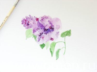 Рисуем с детьми сирень