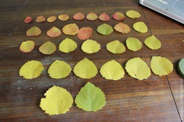 Розочки из листиков