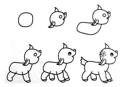 10 примеров, как нарисовать зверей поэтапно 8
