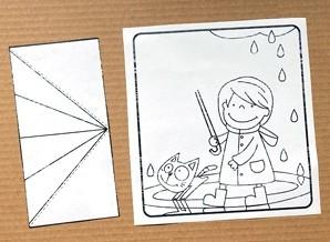 Девочка под объемным зонтиком