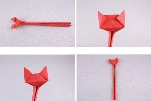 Кошечки в технике оригами