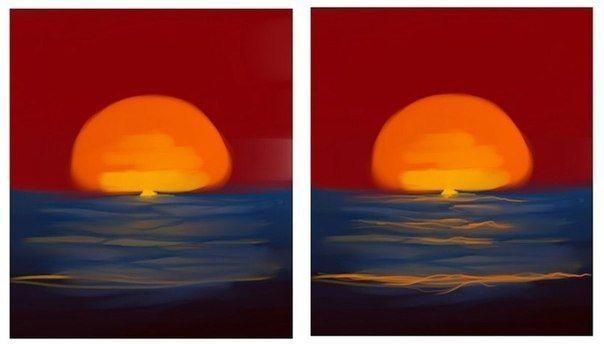 Рисуем с детьми закат на море