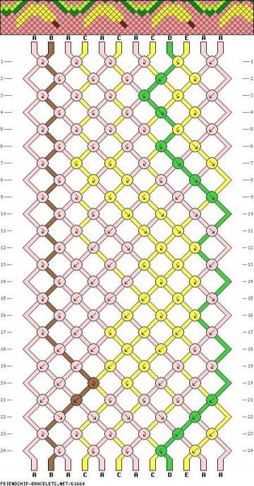 Схемы для фенечек с красивыми узорами