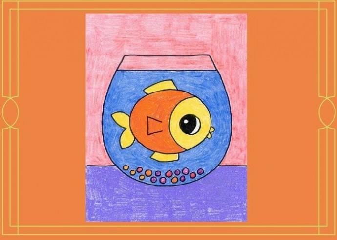 Как нарисовать рыбку в аквариуме