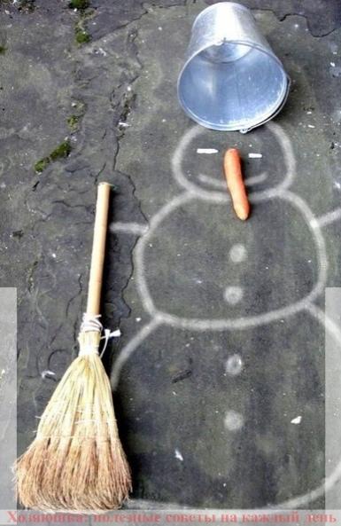 Как сделать с детьми снеговика, если нет снега 1