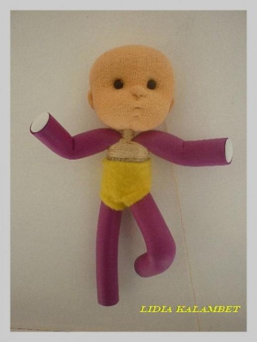 Кукла из бигуди