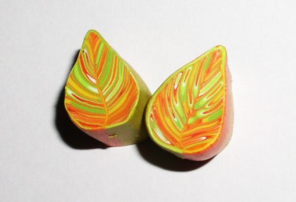 Осенний лист из полимерной глины