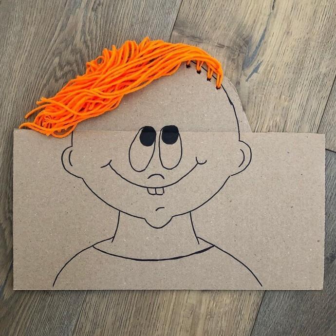 Создаем с детьми портреты людей с волосами