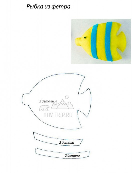 Выкройки мягких игрушек: рыбки