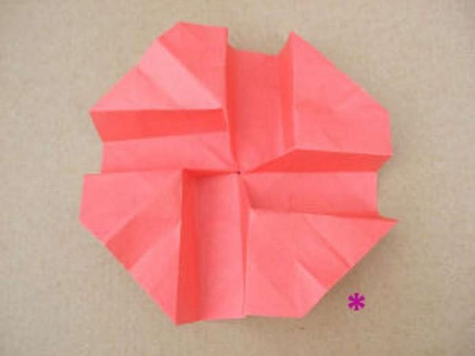 Делаем розу оригами 11