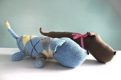 Собачонка из носочка