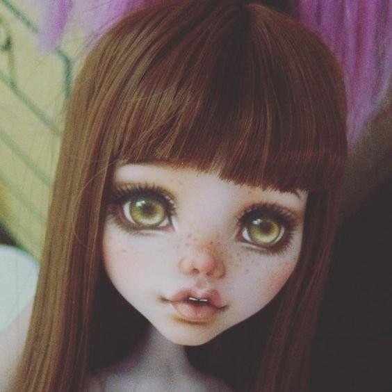 Учимся рисовать личико куклы