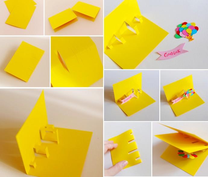 Идеи объемных детских открыток и способы их создания
