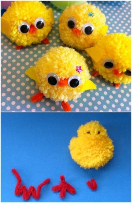 Цыплёнок из помпона