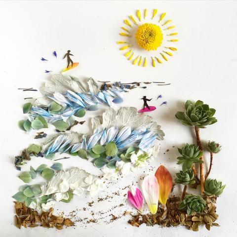 Картины из природных материалов: идеи