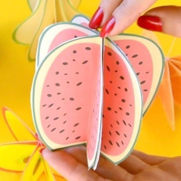 Объемные фрукты