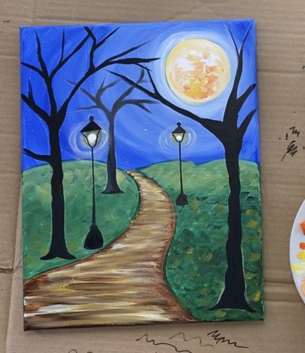 Рисуем с детьми осенние фонари в саду