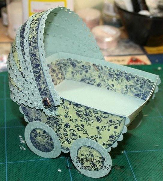 Бумажная колясочка
