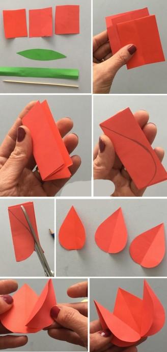 Бумажные тюльпаны 2