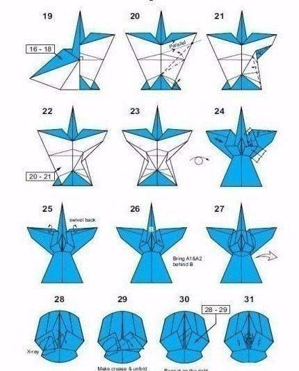 Бумажный ангел-оригами