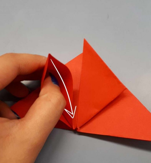 Чудесный цветок оригами 6