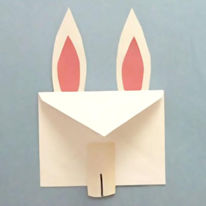 Конвертик в виде зайца