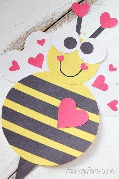 Пчёлка из цветной бумаги