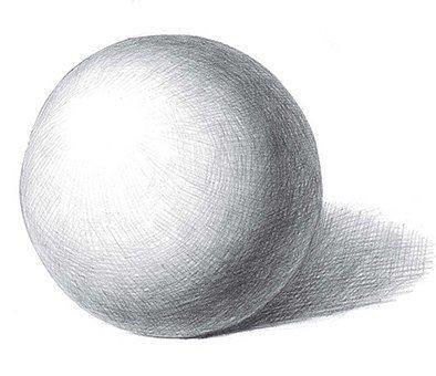 Учим детей рисовать шар простым карандашом