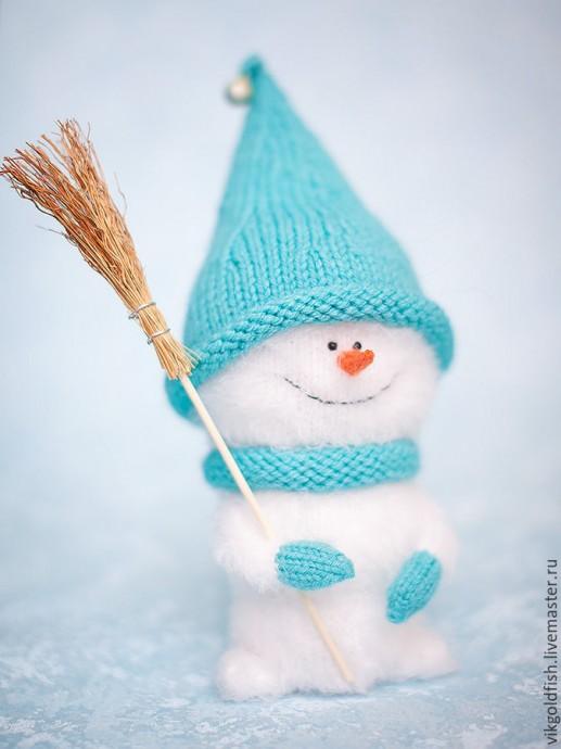 Вяжем снеговичка 4