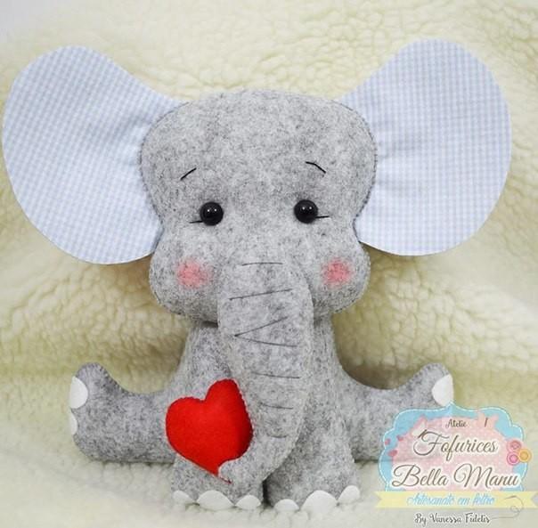 Слоненок из фетра 0