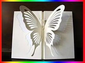 Бабочка из бумаги: техника киригами 5