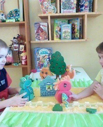 Детский кукольный театр из поролоновых губок