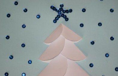 Новогодняя открытка из кружочков 5