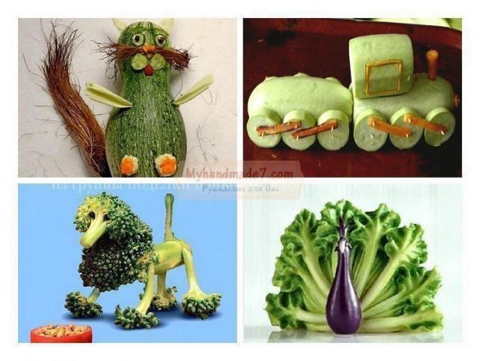Поделки из овощей с детьми