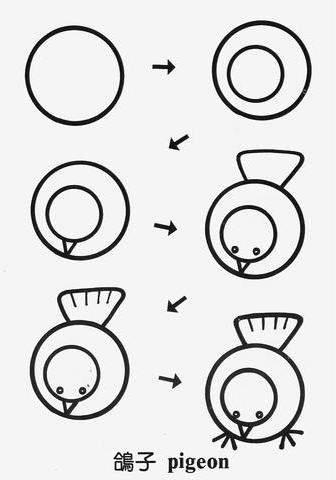 Рисунки, создаваемые из круга