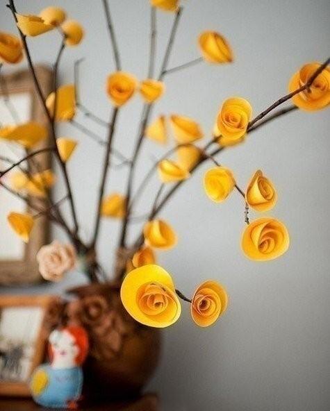 Простые розы из бумаги детскими руками