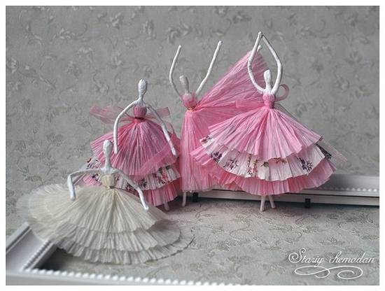 Бумажные балеринки