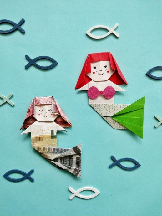Русалка оригами
