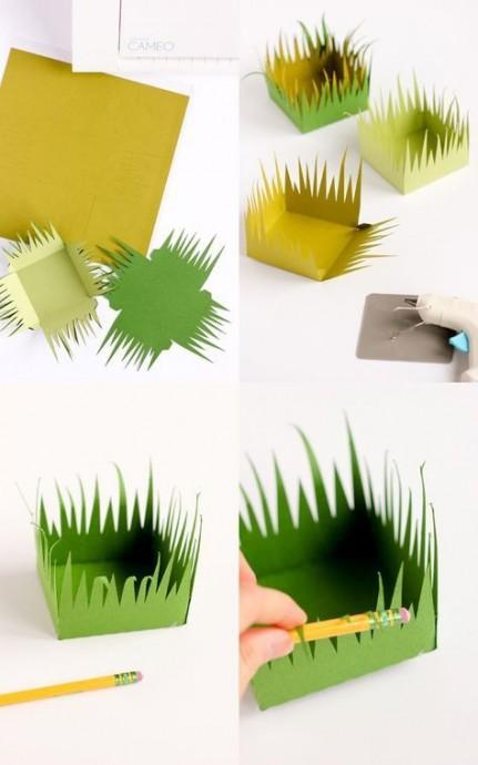 Маленькие пасхальные корзинки из бумаги