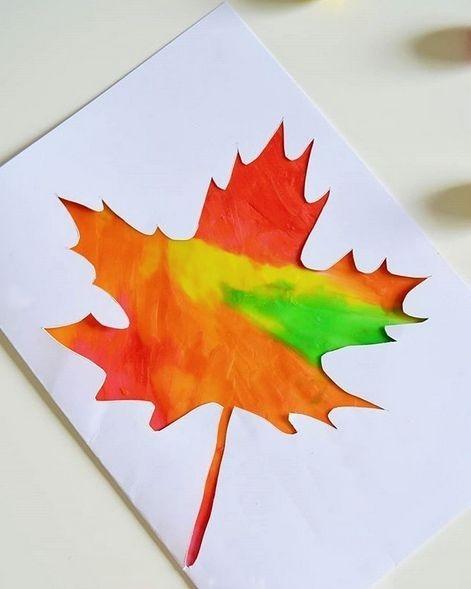 """Осенняя открытка """"Кленовый листик"""""""